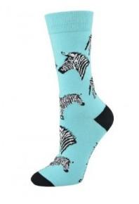 Bamboozld Womens Zebra Socks