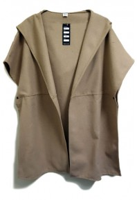Cinnamon Hooded Wool Blend Jacket Tan