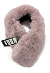 Cinnamon Faux Fur Collar Pink