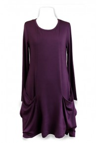 Cinnamon Knit Jersey Dress Purple