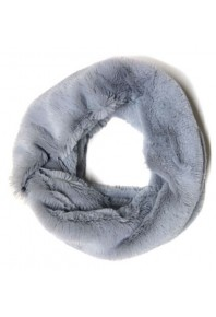 Cinnamon Faux Fur Snood Grey