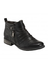Earth Buckeye Ankle Boot Black