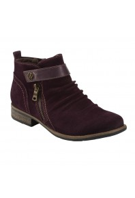 Earth Buckeye Ankle Boot Burgundy