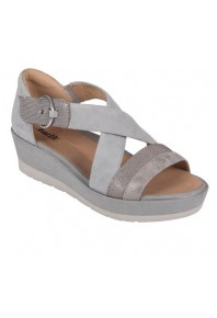 Earth Hibiscus Heel Grey sz 11