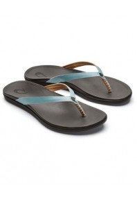 Olukai Ho'Opio Leather Thong Mineral Blue