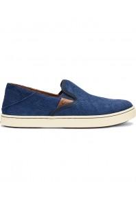 Olukai Womens Pehuea Leather Trench Blue