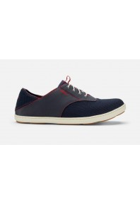Olukai Mens Nohea Moku Trench Blue/Deep Red
