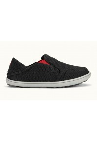 Olukai Mens Nohea Mesh Carbon Deep Red