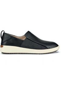 Olukai Malua Leather Slip on Black