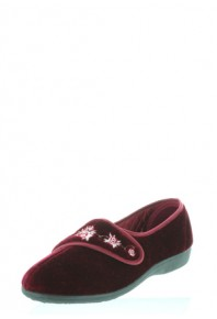 Panda Elsabet Burgundy Slipper