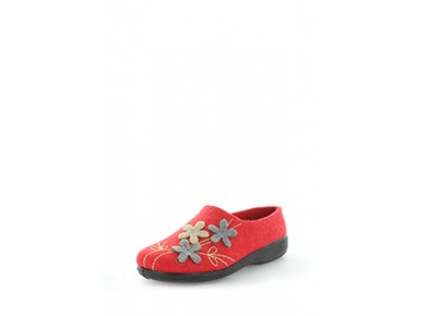 Panda Elyse Felt Slipper Red