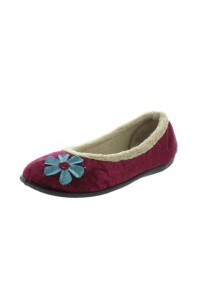 Panda Womens Elgin Ballet Slipper Burgundy