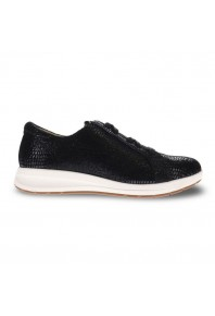 Revere Athens Lace up Black Lizard