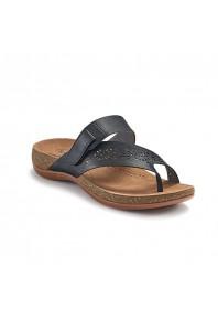 Scholl Antigo Toe Post Sandal Black