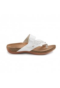 Scholl Antigo Toe Post Sandal White