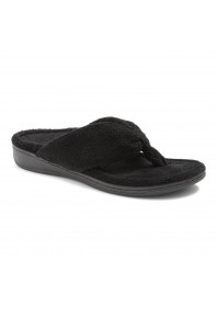 Vionic Gracie Toe Post Slipper Black