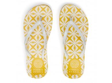 Vionic Noosa Beach Thongs Yellow Tile