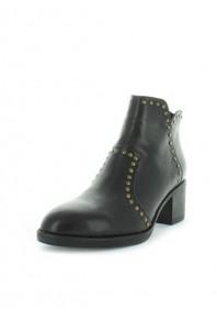 Zola Hinky Studded Block Heel Boot Black
