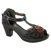 Lola G Black T-Bar Heel