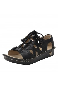 Alegria Valerie Black Burnish Sandal