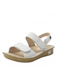Alegria Verona Engraver White Sandal
