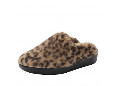 Alegria Leisurelee Slippers Leopard