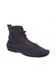 Arcopedico High Woven Lace Up Shock Black