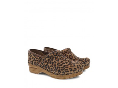 Dansko Pro Leopard Suede Clog