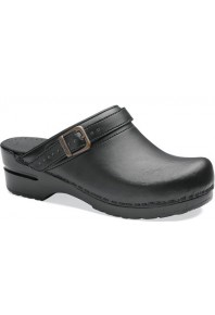 Dansko Ingrid Black Oiled Clog