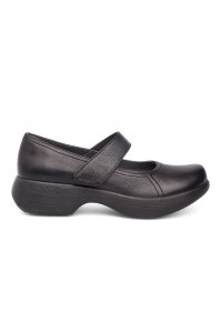 Dansko Womens Willa Black Milled Nappa
