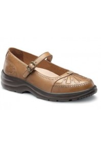 Dr Comfort Paradise Mary Jane Saddle Tan