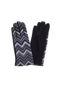 Gloves - Blk & White Chevron