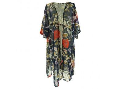 IVYS Kimono Floral Navy