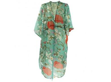 IVYS Kimono Floral Teal
