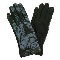 IVYS Fleece Lined Gloves Leaf Pattern
