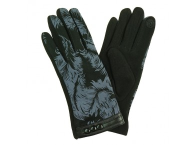 IVYS Fleece Lined Gloves Leaf Pattern
