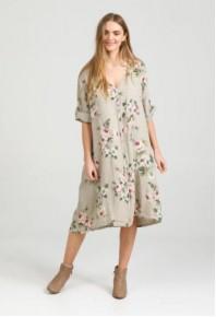 MRSV Abigail Linen Coat Dress Seamist