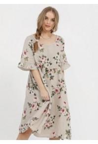 MRSV Audrey Linen Dress Seamist Floral
