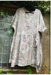 MRSV Clarissa Linen Dress Florals