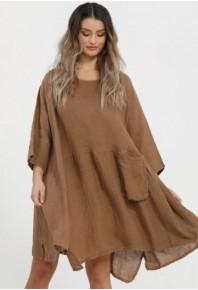 MRSV Clarissa Linen Dress Solids