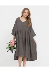 MRSV Stella Linen Dress Solids