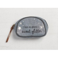 Mona B Sweat Glitter Makeup Bag