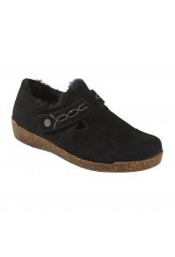 Planet Jade Fluffy Shoe Black