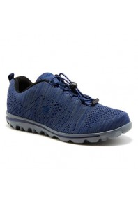 Propet Mens TravelFit Navy/Grey