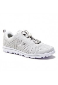 Propet Womens TravelFit Silver/White