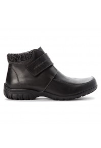 Propet Delaney Velcro Strap Boot Black