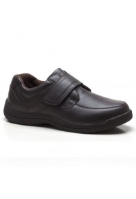 Propet Mens Gary Velcro Brown Leather