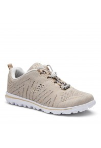 Propet Womens TravelFit Beige/White