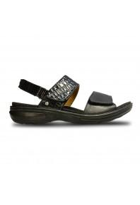 Revere Como Adjustable Sandal Black Black Croc 827f8065d