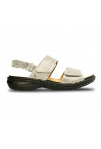 Revere Como Adjustable Sandal Gold Wash